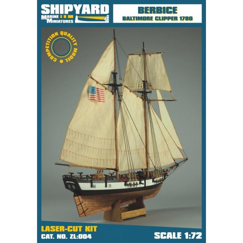 Berbice Baltimore clipper 1780 - Shipyard ZL004