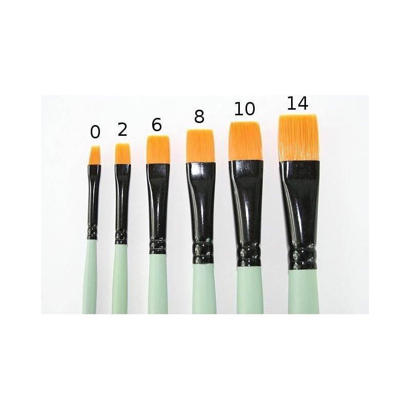 Flat paint brush 12