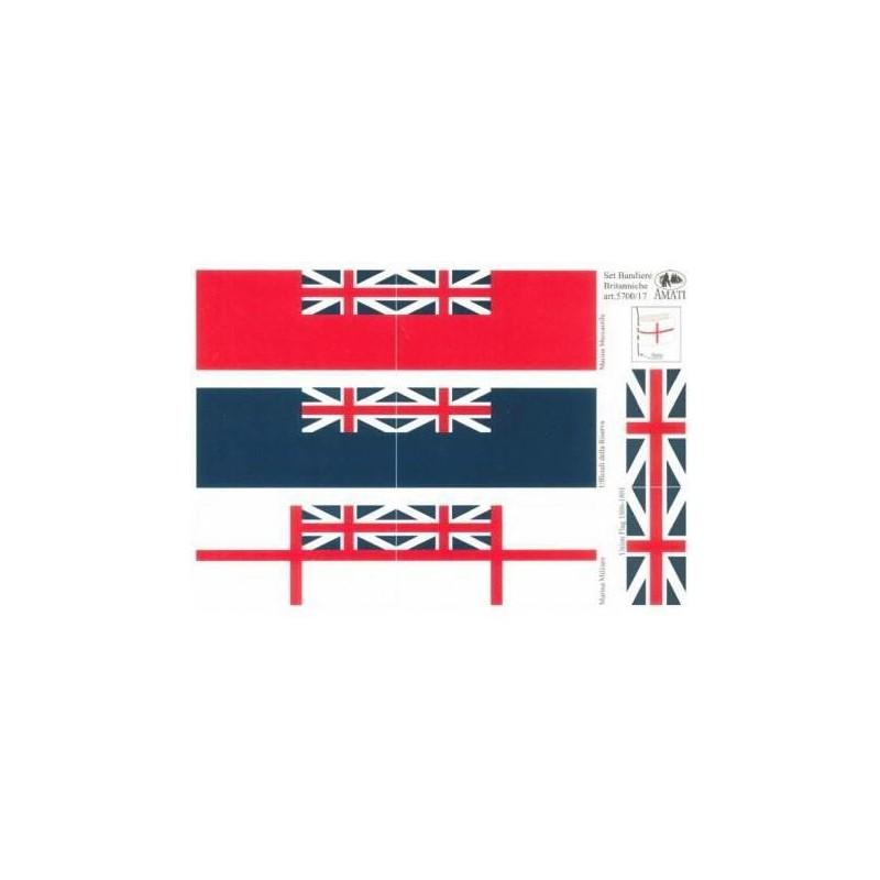 British flags 1700-1800 112x56mm - Amati 5700/17