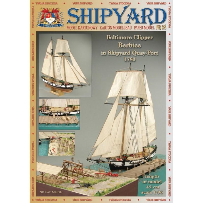 Baltimore Clipper Berbice in Shipyard Quay-Port 1780 - Shipyard MK009