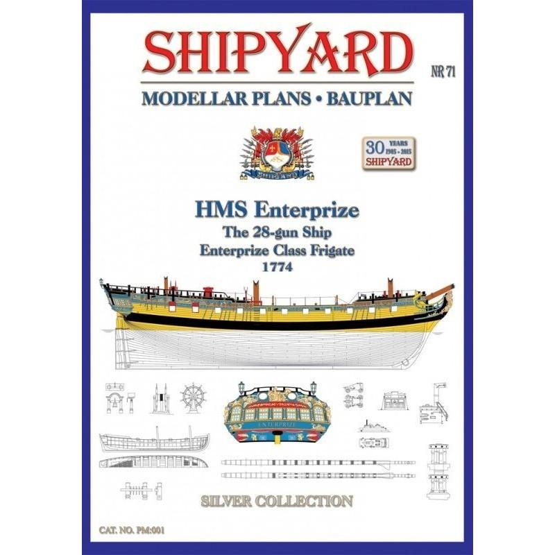 Plany HMS Enterprize 1774 - Shipyard PM001