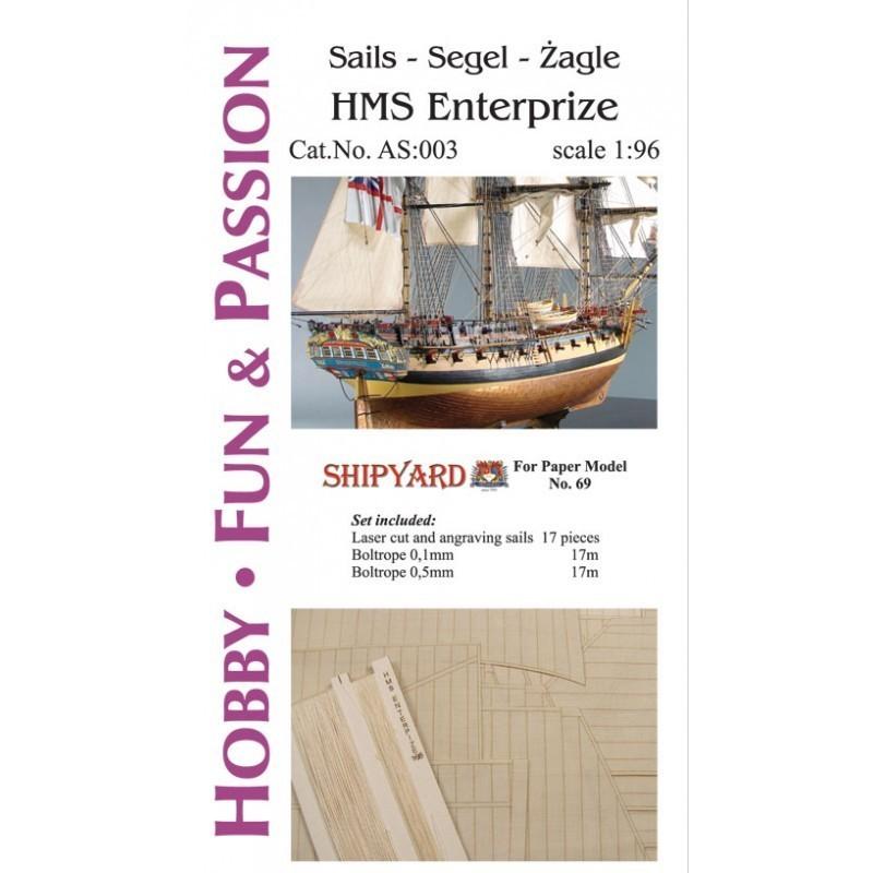 Sails HMS Enterprize - Shipyard AS003
