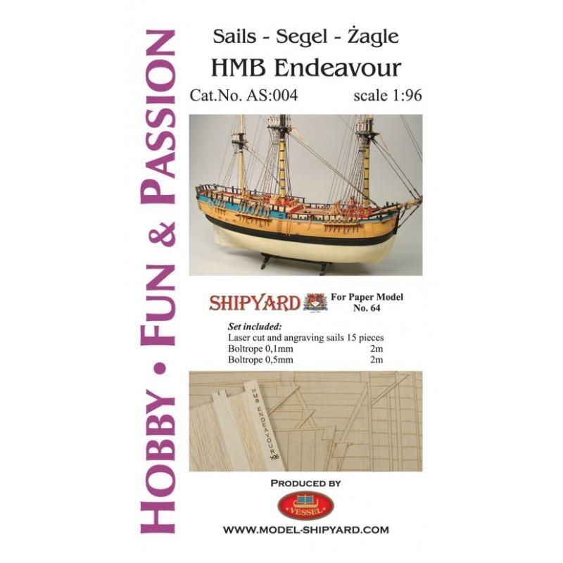 Sails HM Bark Endeavour - Shipyard AS004