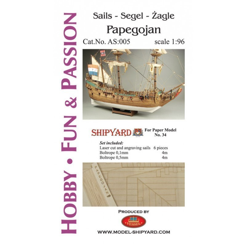 Sails Papegojan - Shipyard AS006