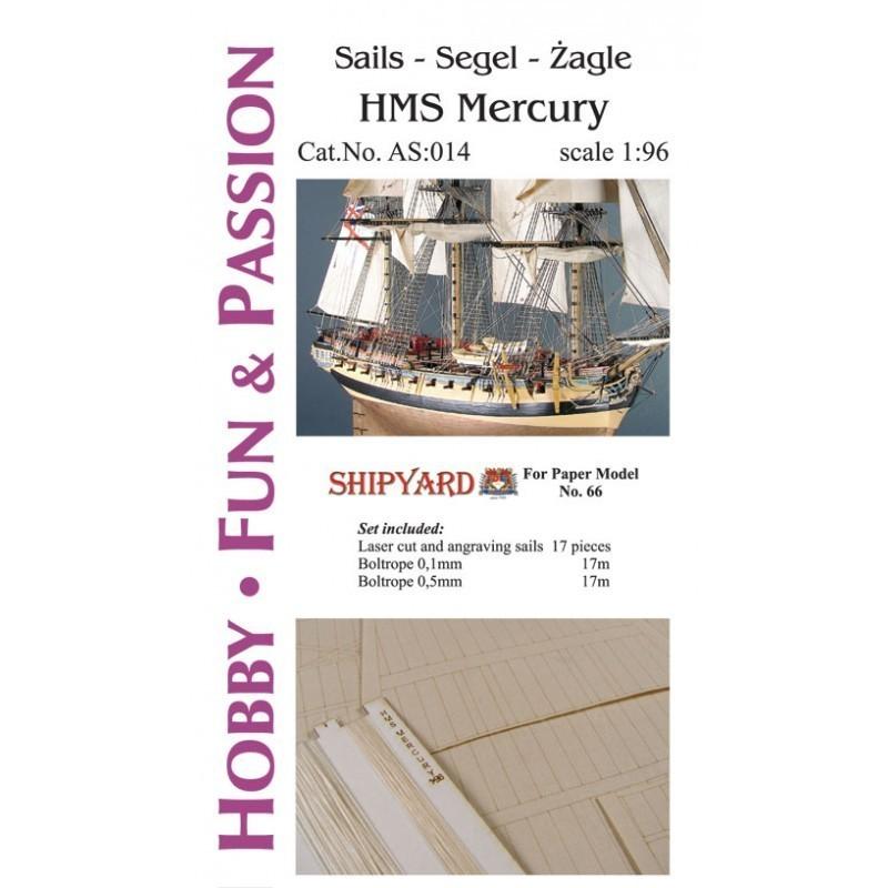 Sails HMS Mercury - Shipyard AS014