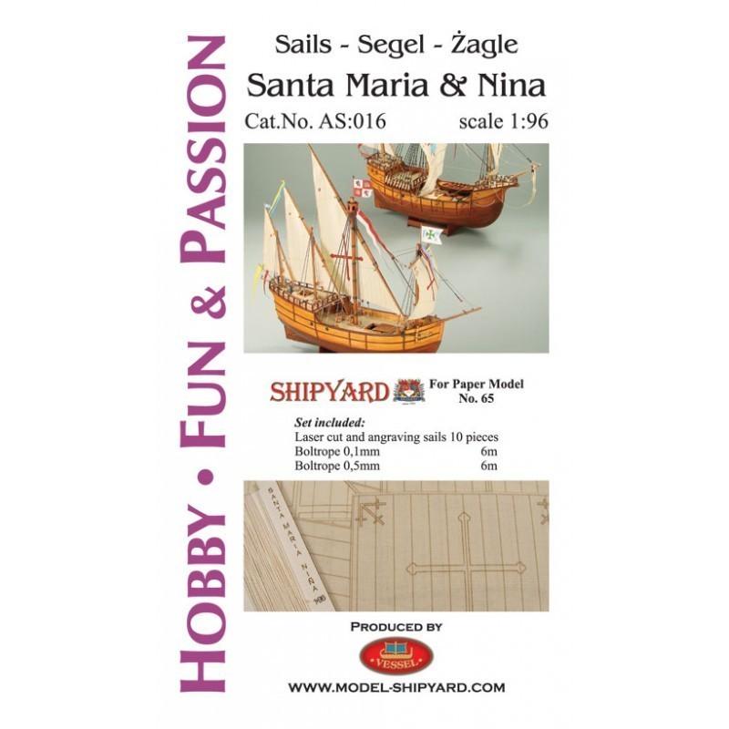 Sails Santa Maria and Nina - Shipyard AS016