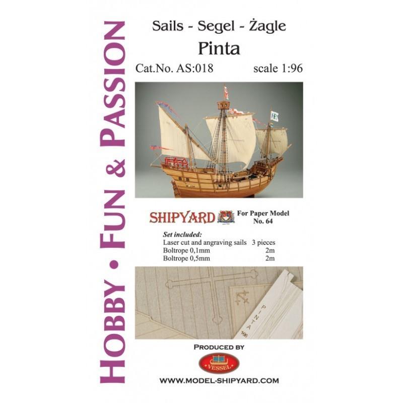 Sails Pinta - Shipyard AS018