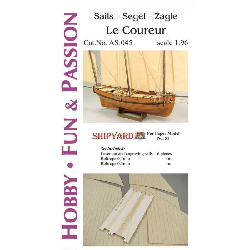 Sails Le Coureur - Shipyard AS045
